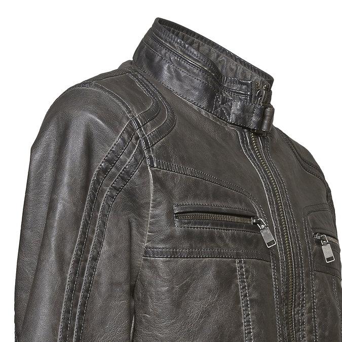 Pánská prošívaná bunda bata, šedá, 971-2194 - 16