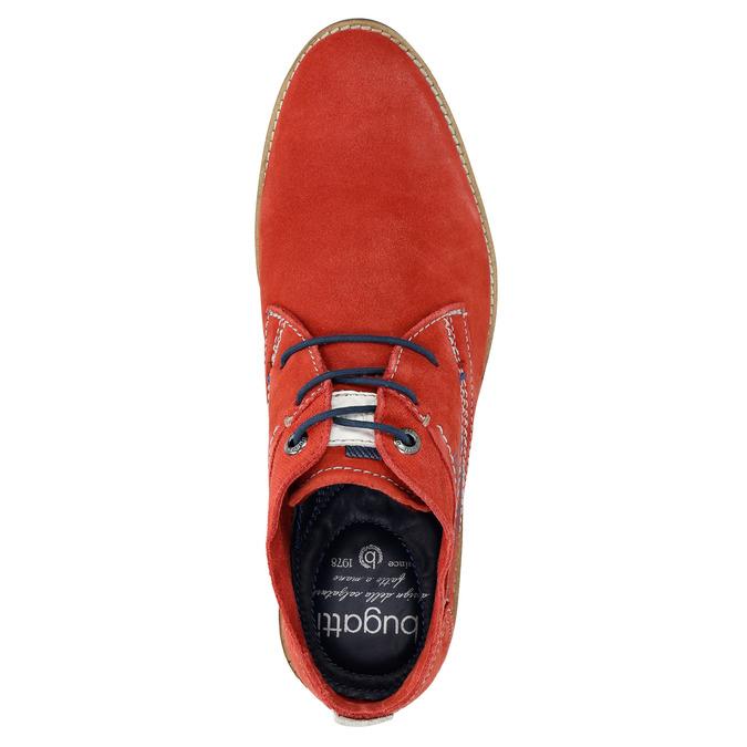 Červené kožené Chukka Boots bugatti, červená, 823-5608 - 19