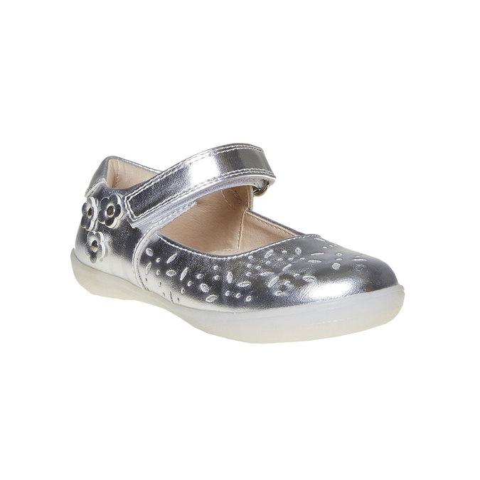 Stříbrné dětské baleríny mini-b, stříbrná, 221-2169 - 13