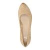 Kožené lodičky na klínovém podpatku bata, béžová, 626-8638 - 19