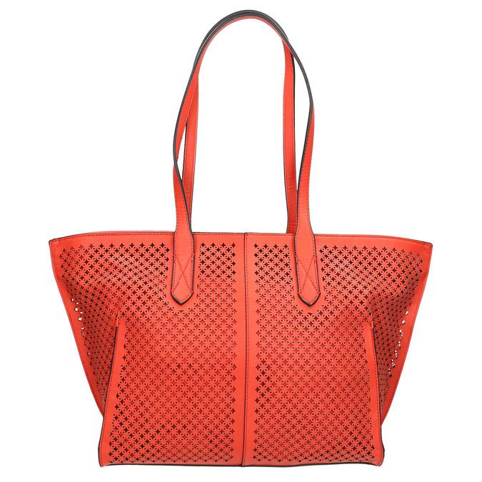 Červená kabelka s perforací gabor-bags, červená, 961-5080 - 19