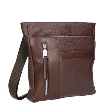 Kožená pánská Crossbody taška bata, hnědá, 964-4230 - 13