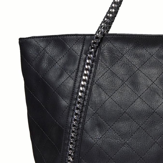 Dámská kabelka s řetízkem bata, černá, 961-6451 - 26