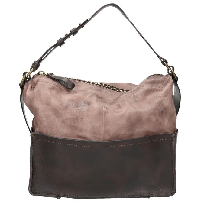 Kožená kabelka s masivním popruhem a-s-98, hnědá, 966-4037 - 26