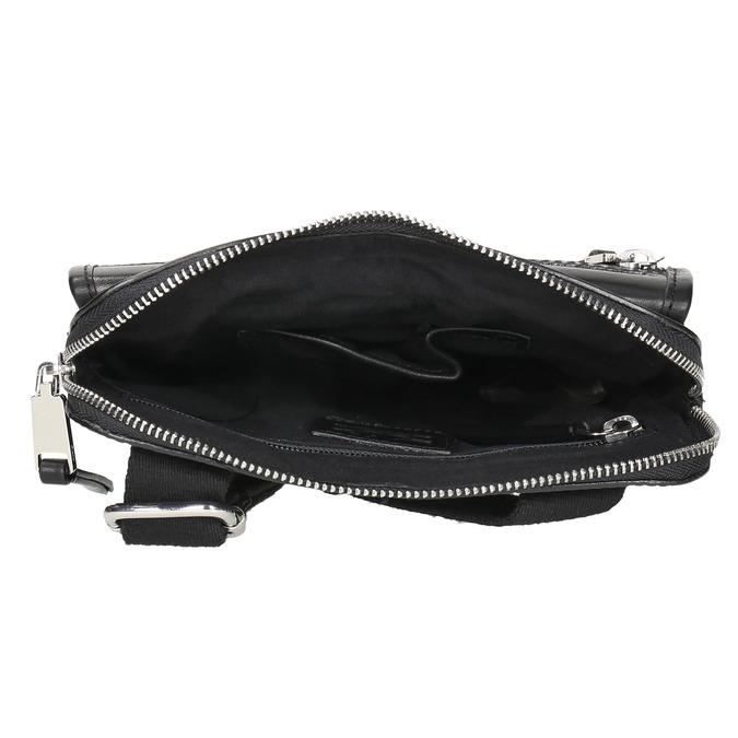 Kožená pánská Crossbody taška bata, černá, 964-6237 - 15