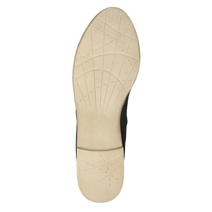 Dámské polobotky s perforací bata, 2020-526-6619 - 26