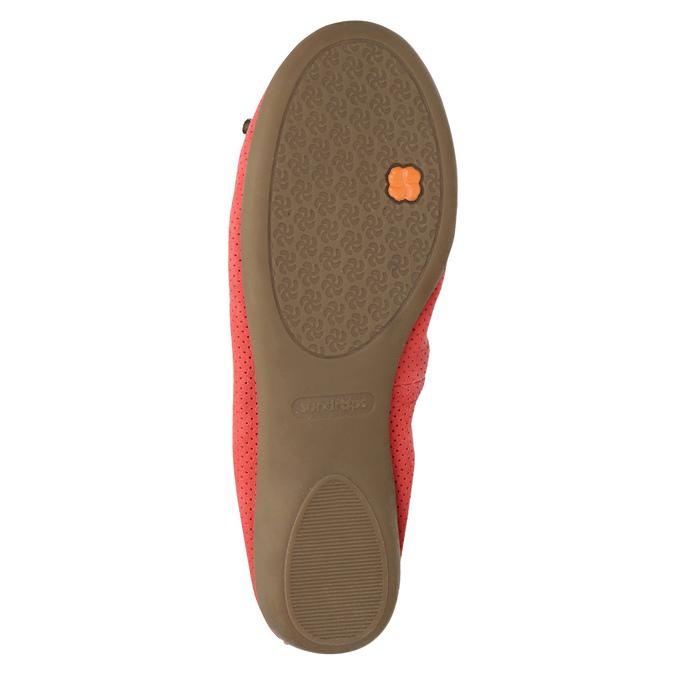 Červené baleríny s pružným lemem bata, červená, 526-5617 - 26