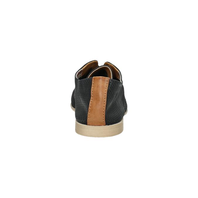 Dámské polobotky s perforací bata, černá, 526-6619 - 17
