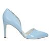 Modré kožené lodičky s volnými boky insolia, modrá, 728-9636 - 15