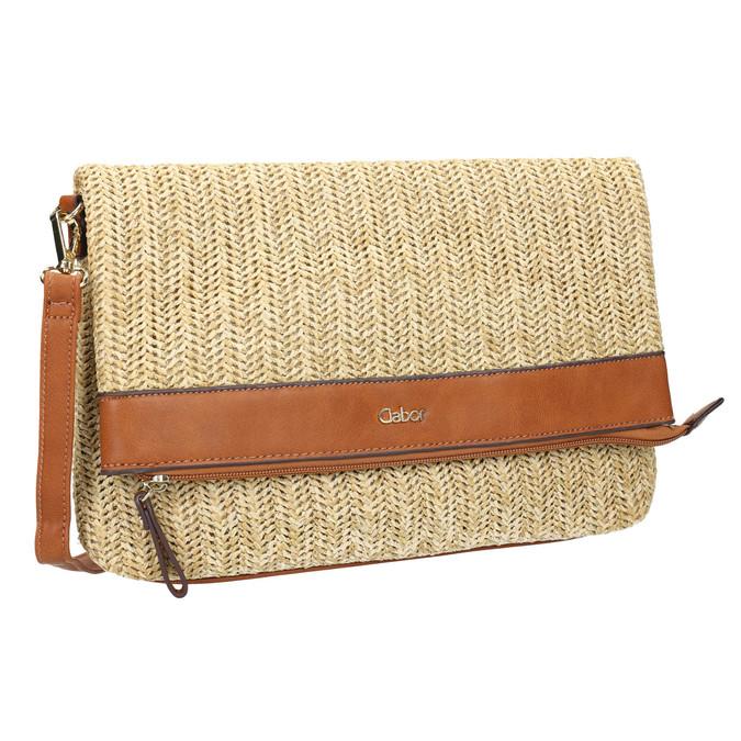 Pletená Crossbody v naturálním designu gabor-bags, béžová, 961-8072 - 13