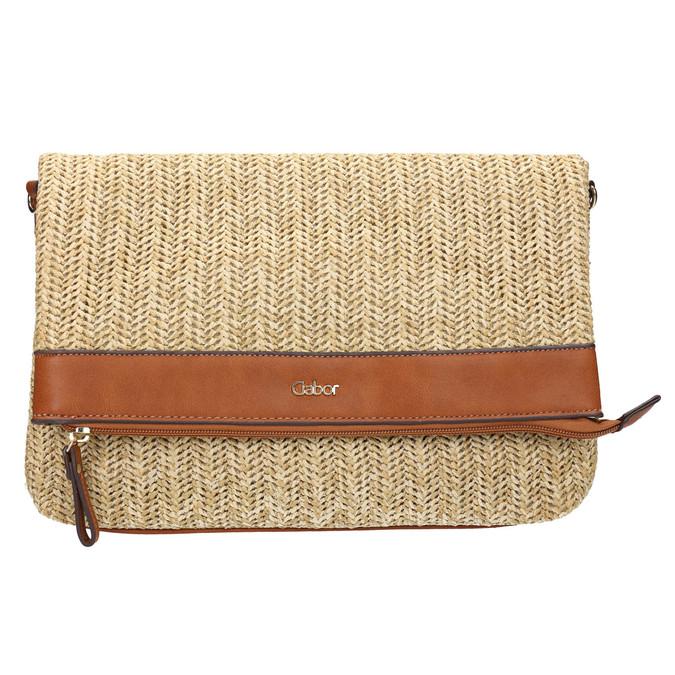 Pletená Crossbody v naturálním designu gabor-bags, béžová, 961-8072 - 26