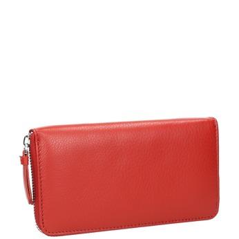 Červená kožená peněženka bata, červená, 944-5178 - 13