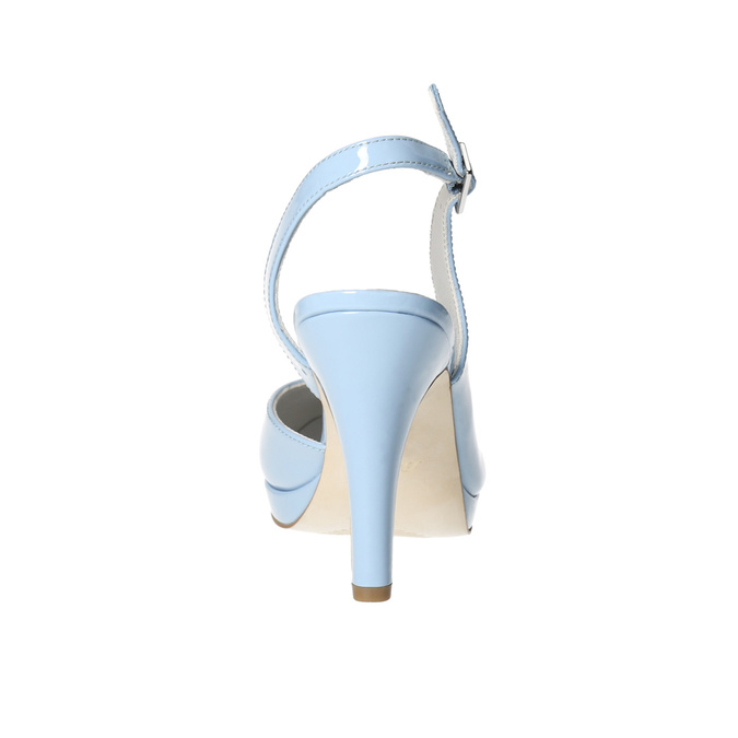 Modré kožené lodičky s volnou patou insolia, modrá, 728-9638 - 17