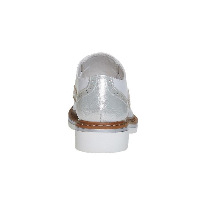 Dětské polobotky s kamínky mini-b, stříbrná, 321-2246 - 17
