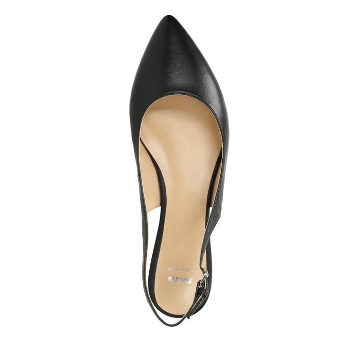 Dámské baleríny s otevřenou patou bata, černá, 524-6603 - 19