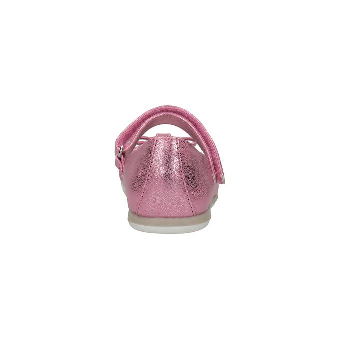 Růžové baleríny s páskem přes nárt mini-b, růžová, 221-5179 - 17