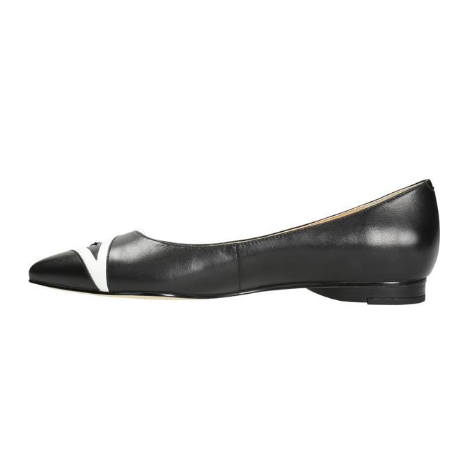 Dámské baleríny do špičky bata, černá, 524-6602 - 26