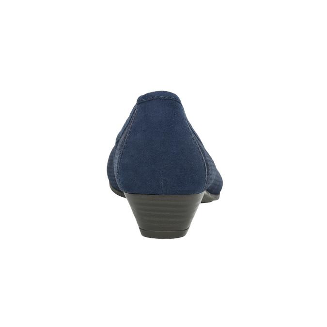 Kožené lodičky šíře H bata, modrá, 623-9601 - 17