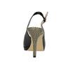 Kožené lodičky s volnou patou a špičkou insolia, černá, 726-6639 - 17