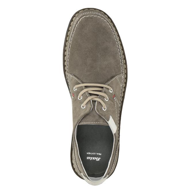 Pánské neformální polobotky z broušené kůže bata, šedá, 853-2612 - 15