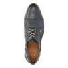 Pánské kožené polobotky s průhlednou podešví bata, modrá, 826-9803 - 19