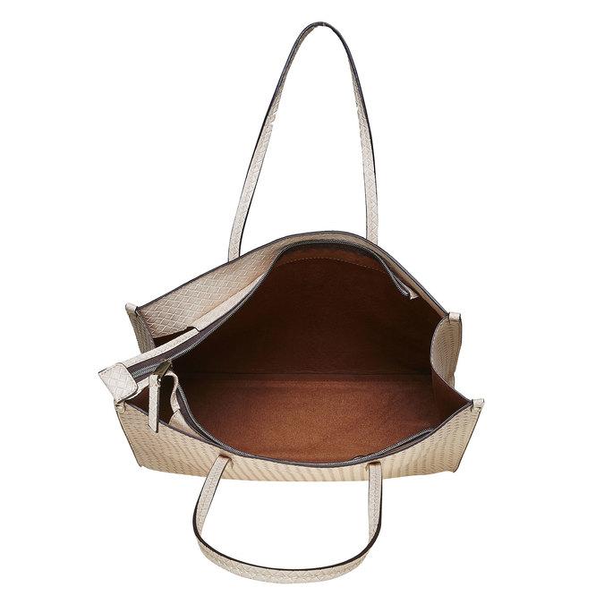 Krémová dámská kabelka s pleteným vzorem bata, béžová, 961-8289 - 15
