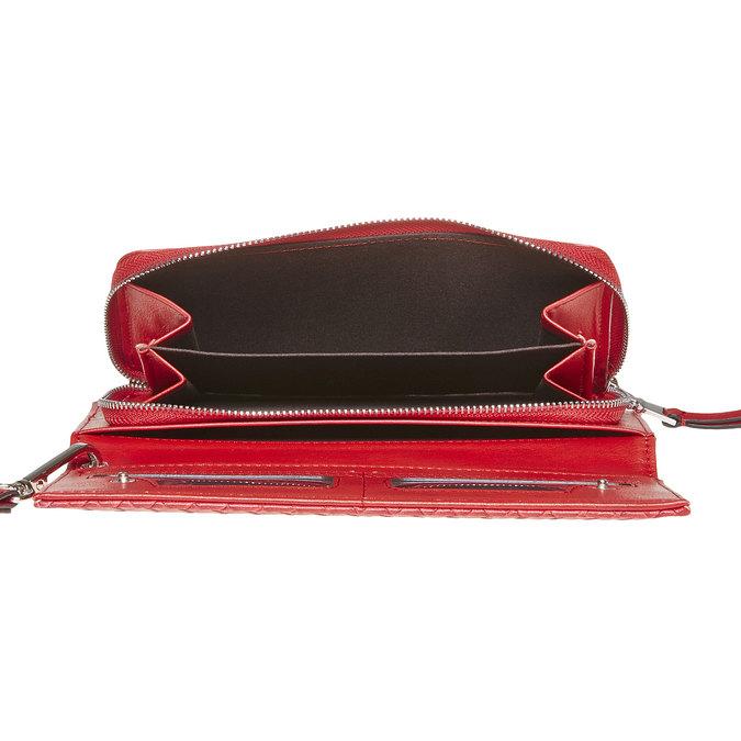 Červená peněženka s poutkem bata, červená, 941-5148 - 15