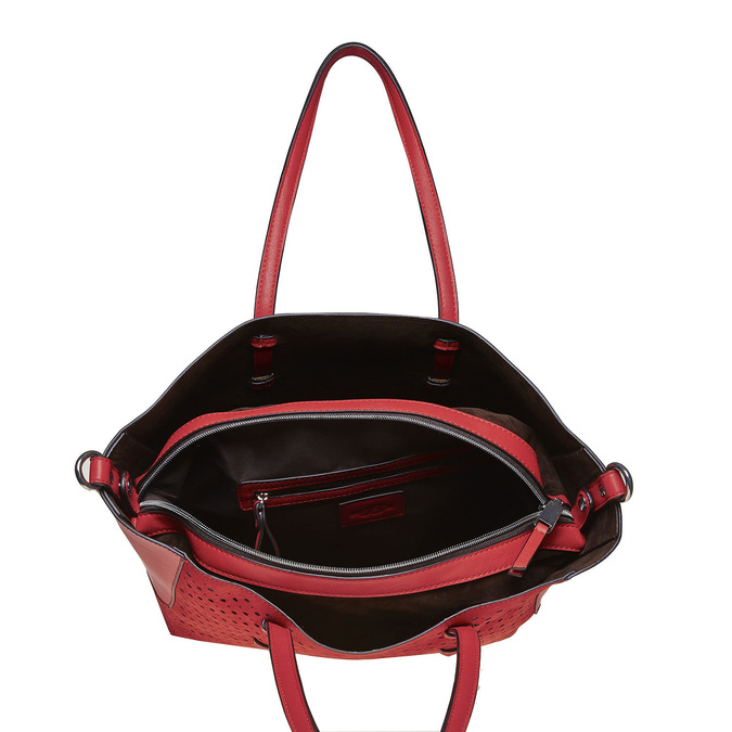 Perforovaná dámská kabelka bata, červená, 961-5276 - 15