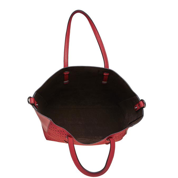 Perforovaná dámská kabelka bata, červená, 961-5276 - 17
