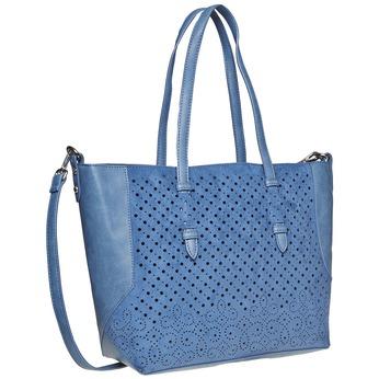 Modrá kabelka s perforací bata, modrá, 961-9276 - 13