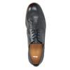 Tmavě modré kožené polobotky bata, modrá, 824-9907 - 19