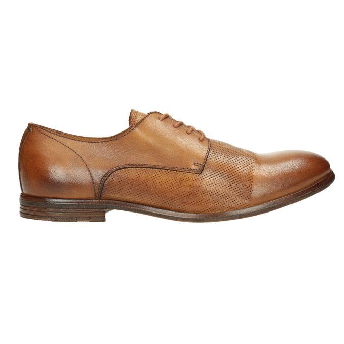 Ležérní kožené Derby polobotky bata, hnědá, 826-3907 - 15