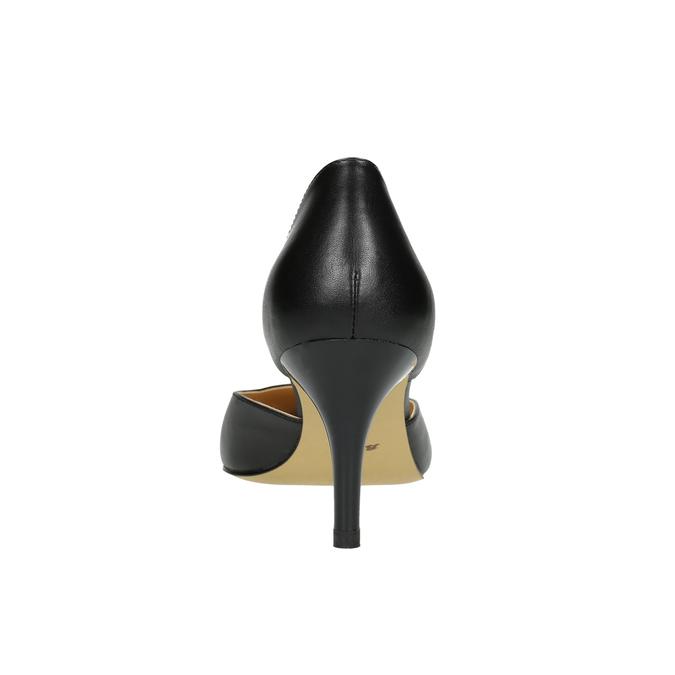 Lodičky na jehlovém podpatku bata, černá, 624-6631 - 17