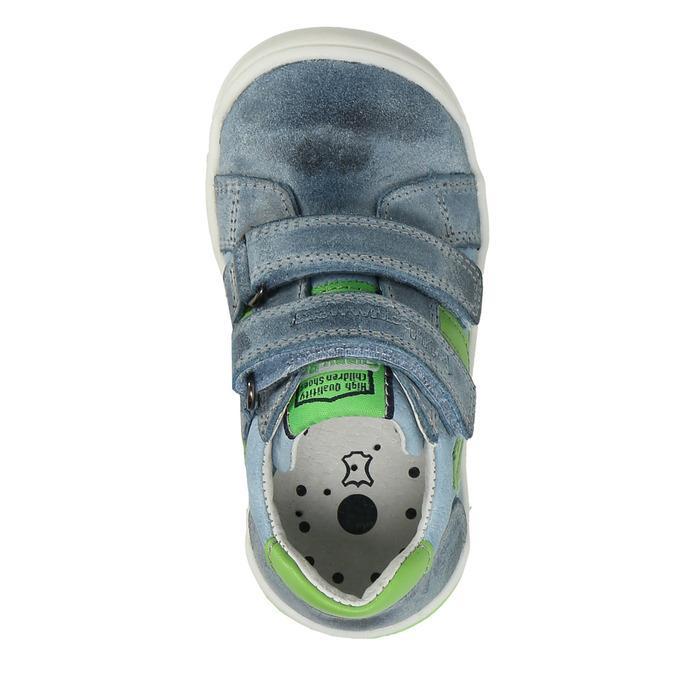 Dětská kožená obuv na suché zipy bubblegummers, šedá, 116-2600 - 17