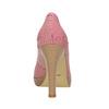 Kožené pruhované lodičky bata, růžová, 726-5633 - 17