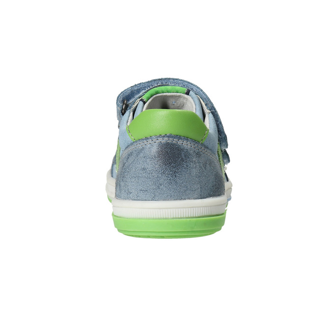 Dětská kožená obuv na suché zipy bubblegummers, šedá, 116-2600 - 15