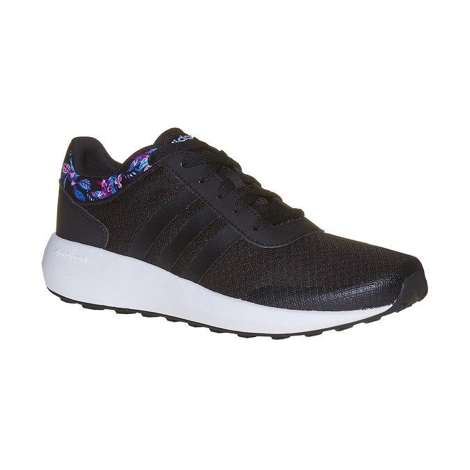 Černé tenisky s květinovým vzorem adidas, černá, 509-6974 - 13