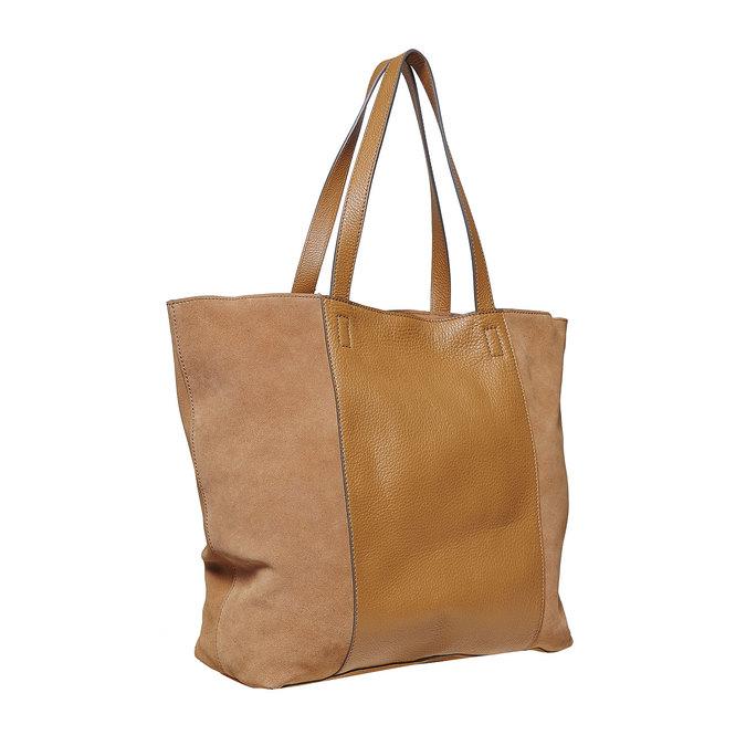 Dámská kožená kabelka hnědá bata, hnědá, 964-3185 - 13