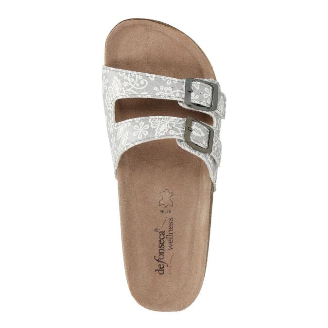 Dámská domácí obuv de-fonseca, šedá, 571-2600 - 19