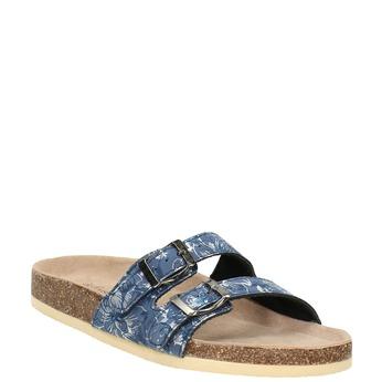 Dámská domácí obuv de-fonseca, modrá, 571-9600 - 13