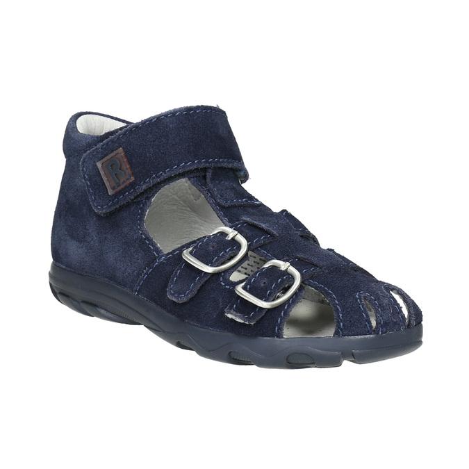 Kožené chlapecké sandály richter, modrá, 113-9024 - 13