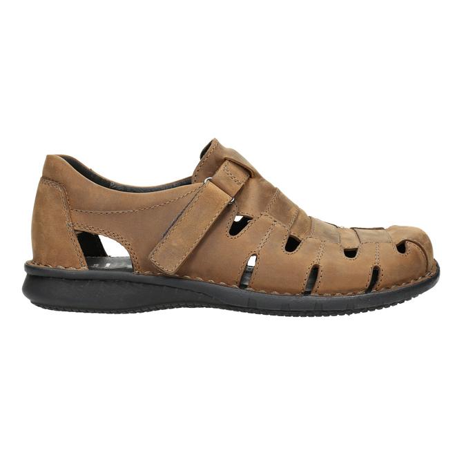 Kožené pánské sandály hnědé bata, hnědá, 864-4600 - 15