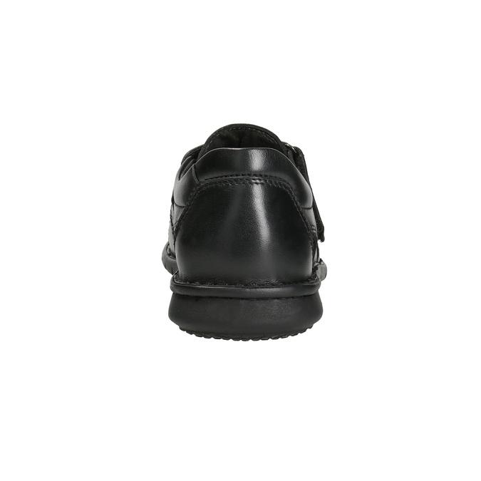 Pánské kožené sandály černé bata, černá, 864-6600 - 15