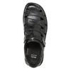 Pánské kožené sandály černé bata, černá, 864-6600 - 17