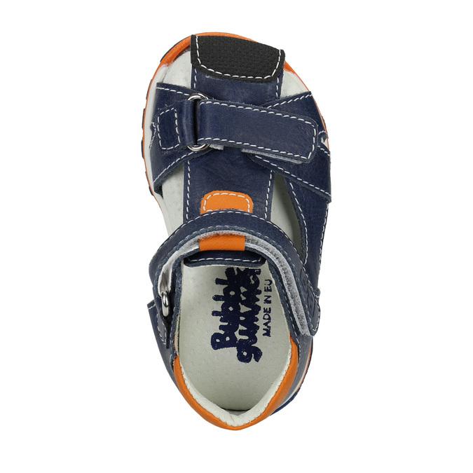 Chlapecké kožené sandály bubblegummers, modrá, 166-9600 - 19