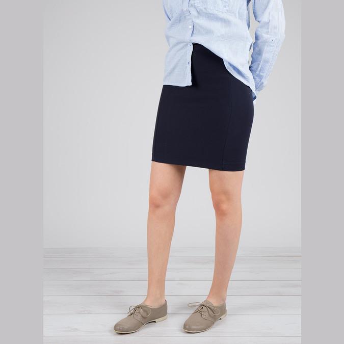 Kožené dámské polobotky bata, šedá, 526-2619 - 18