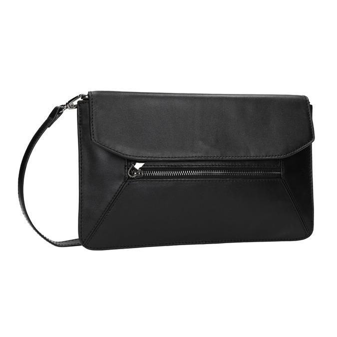 Černé kožené psaníčko bata, černá, 964-6219 - 13