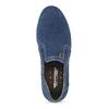 Slip-on z broušené kůže weinbrenner, modrá, 833-9601 - 17