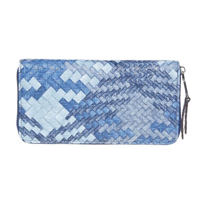 Modrá dámská peněženka se vzorem bata, modrá, 941-9149 - 26