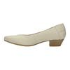 Kožené lodičky na nízkém podpatku bata, béžová, 624-1603 - 26